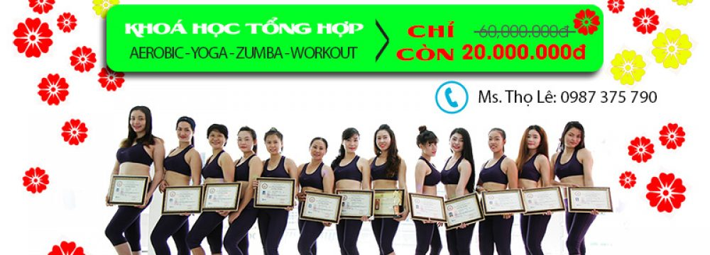 4 mon tong hop aerobic yoga zumba fit workout