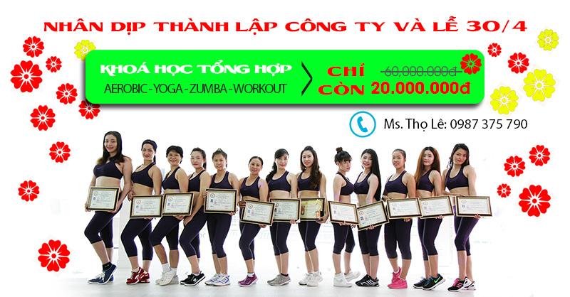 4 mon tong hop aerobic yoga zumba workout