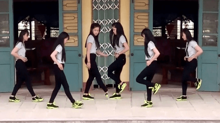 nhảy shuffle dance đang là trào lưu