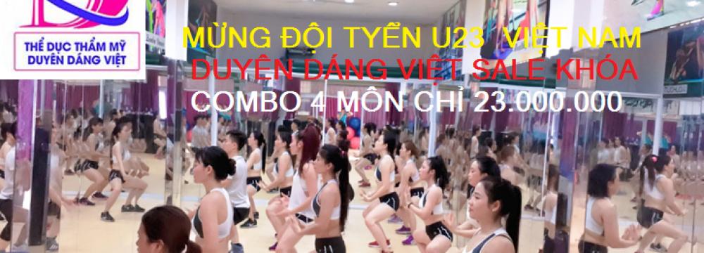 khuyễn mãi khủng Duyên Dáng Việt mùng U23 Việt Nam