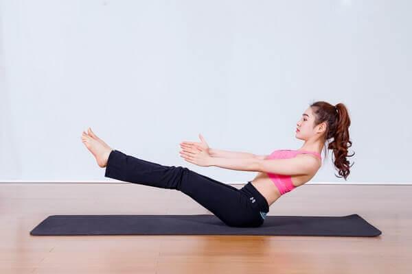 yoga gập bụng