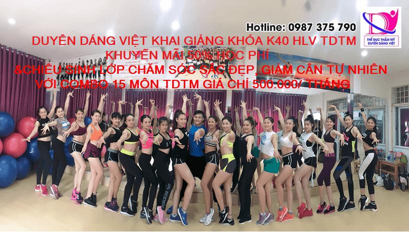 Duyên Dáng Việt khai giảng K40 với khuyễn mãi khủng