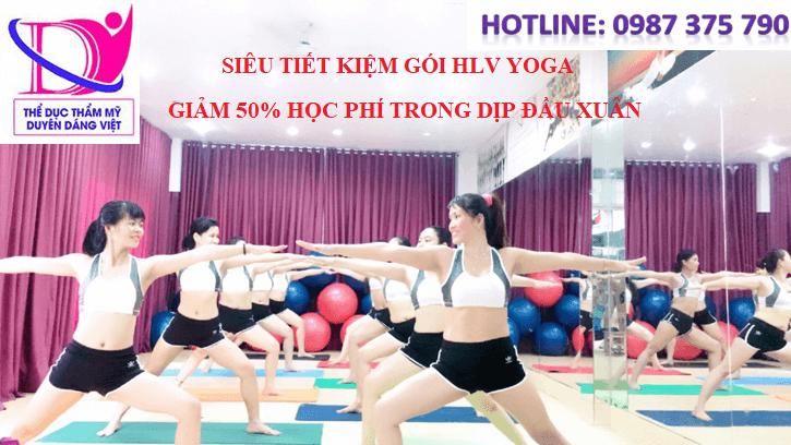 học hlv yoga tại trung tâm duyên dáng việt