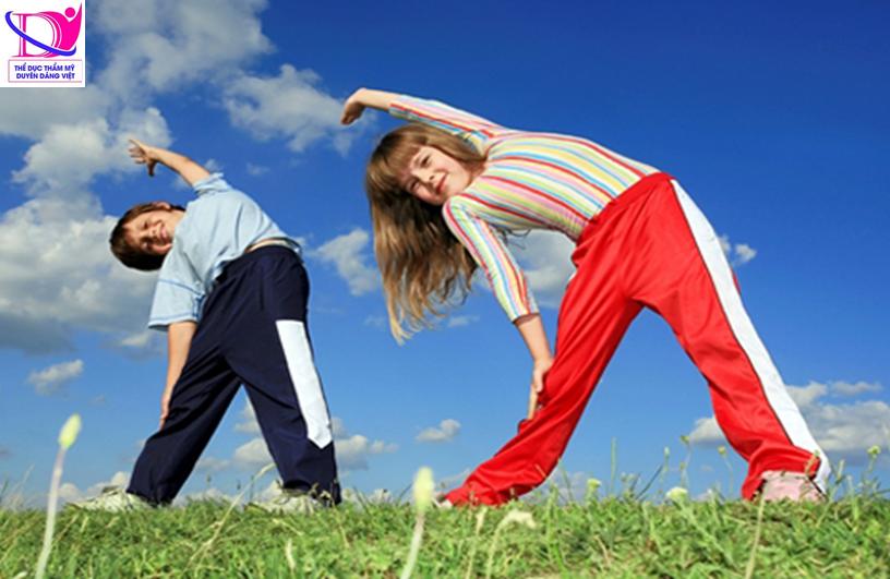 Tập thể dục giúp trẻ phát triển toàn diện