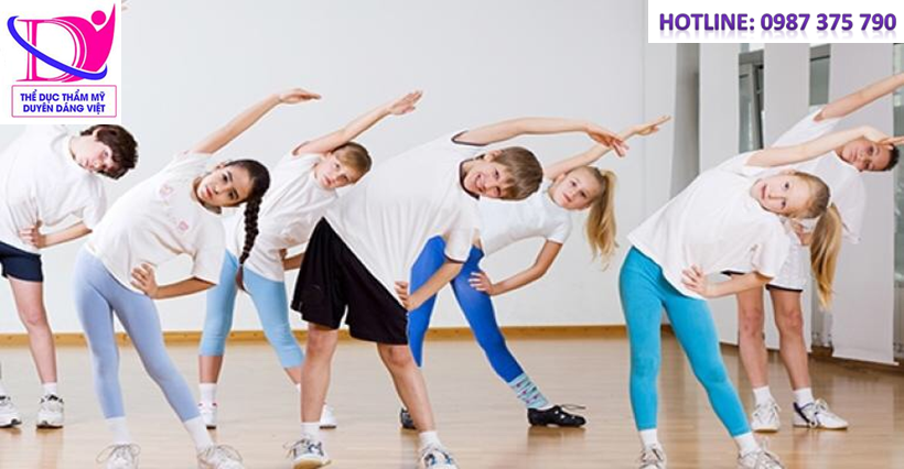 nên tập thể dục cho trẻ em