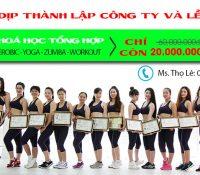Khai giảng lớp HLV Tổng hơp 4 môn Aerobic, Yoga, Zumba, Workout